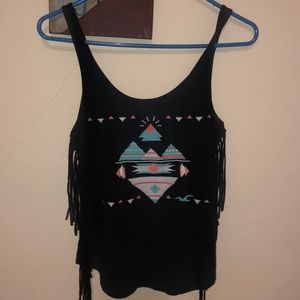 Hollister Fringed tank ( never worn)